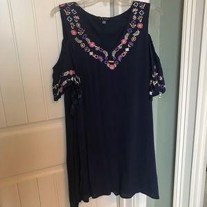 NWT cold shoulder dress by As U Wish XL